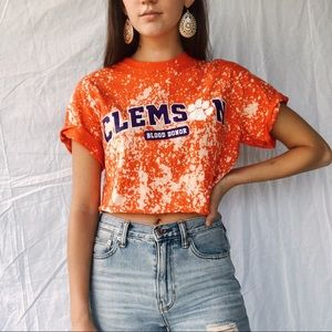 clemson tigers crop top